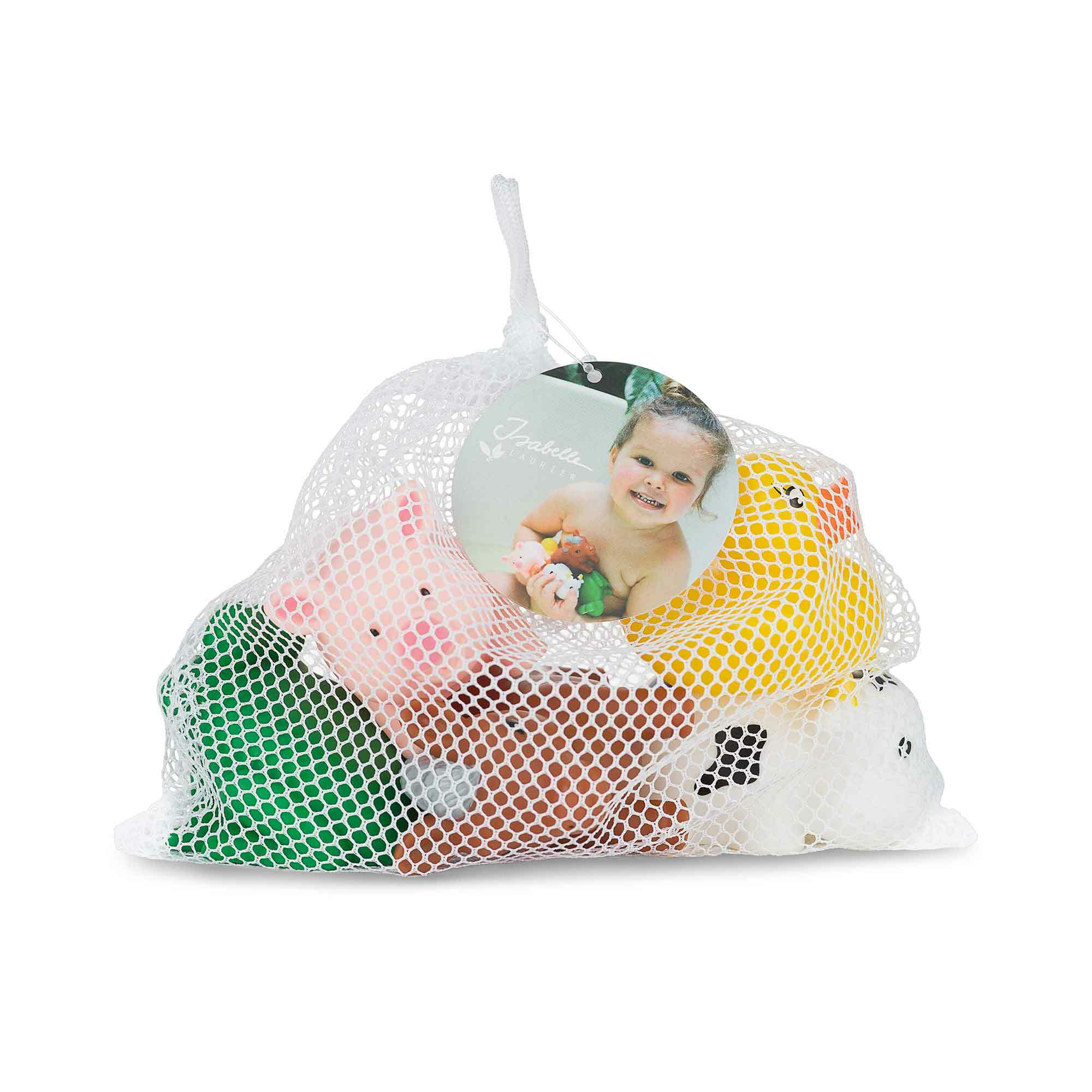 5 Rubber Bath Animals in a Bag
