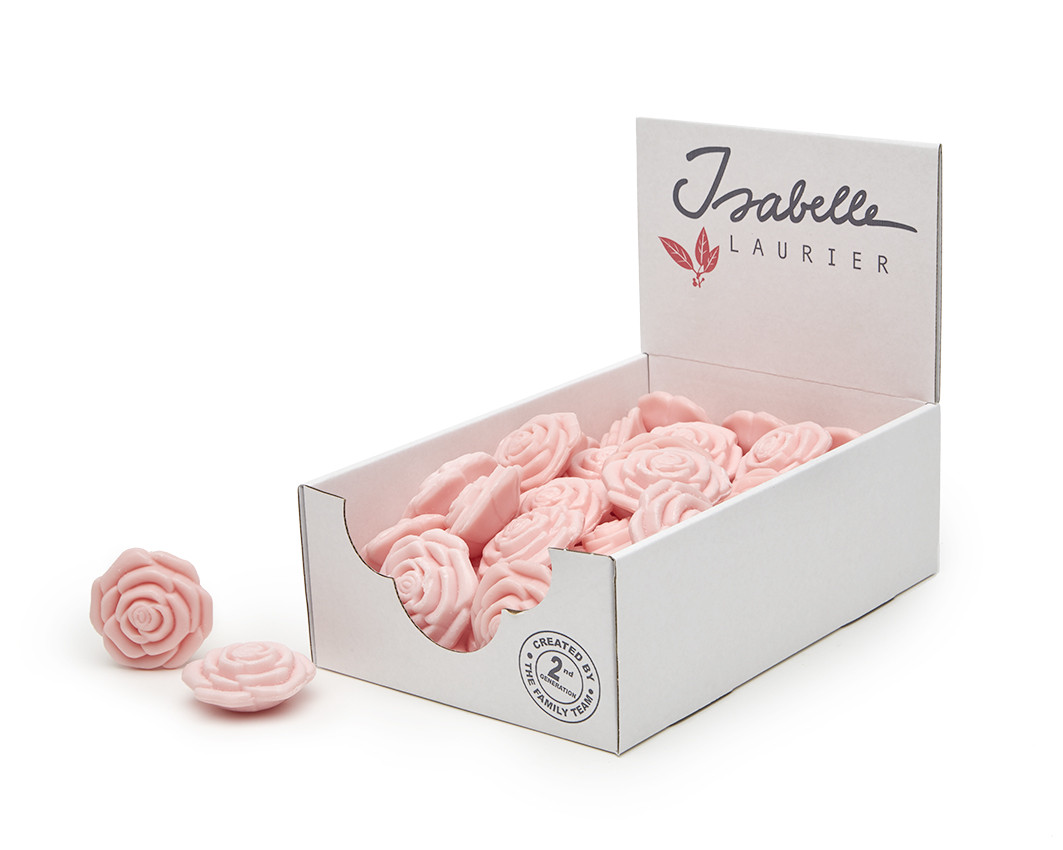 Zeep in roosjesvorm: Roos